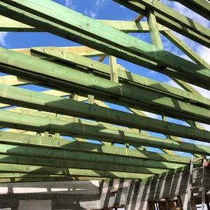zielone belki pod dach